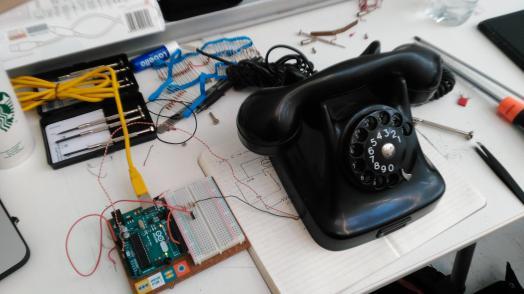 dial arduino setup